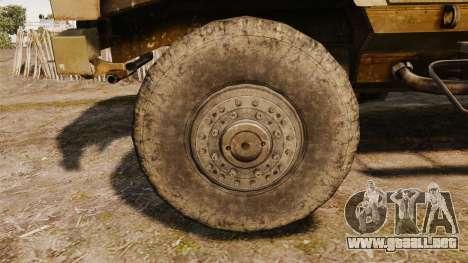 Oshkosh M-ATV para GTA 4 vista hacia atrás