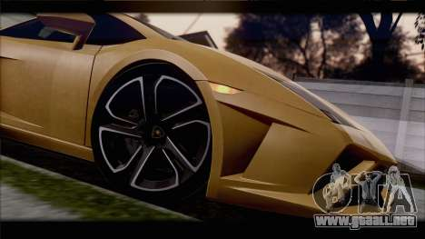 Lamborghini Gallardo LP560-4 Coupe 2013 V1.0 para visión interna GTA San Andreas