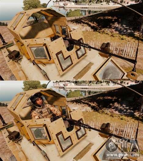 Oshkosh M-ATV para GTA 4 vista superior