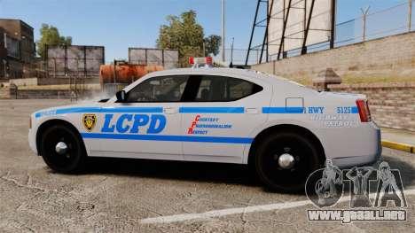 Dodge Charger LCPD [ELS] para GTA 4 left
