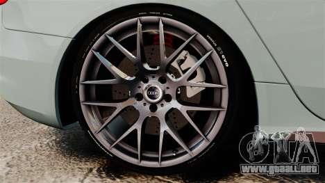Audi RS4 Avant para GTA 4 vista hacia atrás