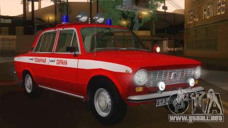 VAZ 21011 proteccion contra el fuego para GTA San Andreas left