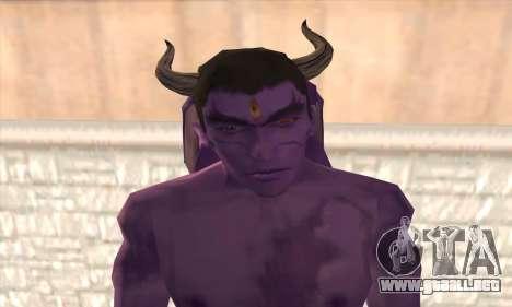 Devil Kazuya Mishima para GTA San Andreas tercera pantalla