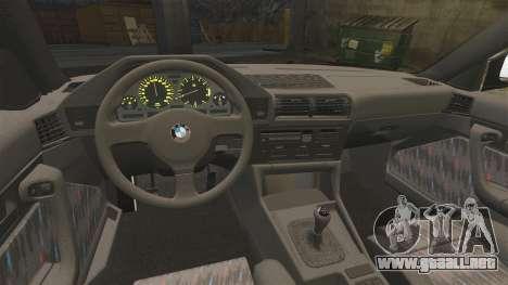 BMW M5 E34 para GTA 4 vista hacia atrás
