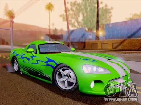 Dodge Viper SRT-10 Coupe para las ruedas de GTA San Andreas