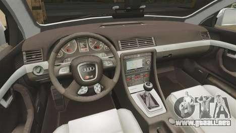 Audi S4 Avant Metropolitan Police [ELS] para GTA 4 vista interior