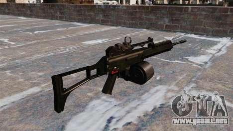 Rifle de asalto HK MG36 para GTA 4 segundos de pantalla