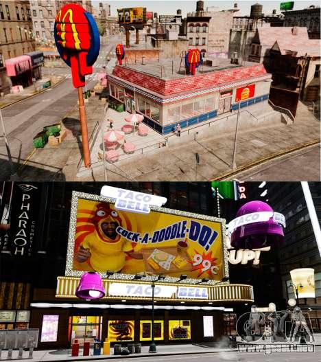 Comer McDonalds y Taco Bell para GTA 4