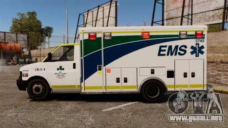 Brute Alberta Health Services Ambulance [ELS] para GTA 4 left