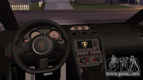 Lamborghini Gallardo LP560-4 Coupe 2013 V1.0 para vista lateral GTA San Andreas