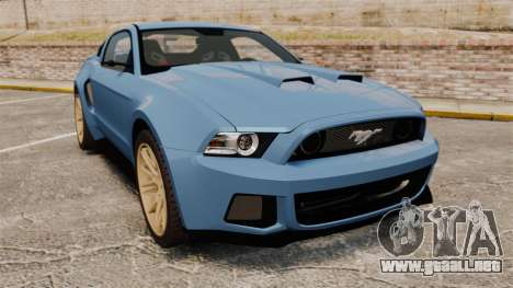 Ford Mustang GT 2013 Widebody NFS Edition para GTA 4