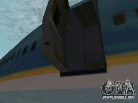 Boeing-747-400 Airforce one para GTA San Andreas vista posterior izquierda