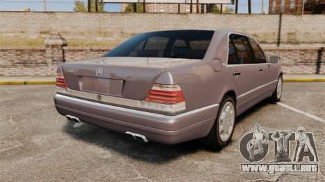 Mercedes-Benz S600 W140 para GTA 4 Vista posterior izquierda