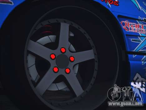 Nissan Silvia S13 Toyo para GTA San Andreas vista hacia atrás
