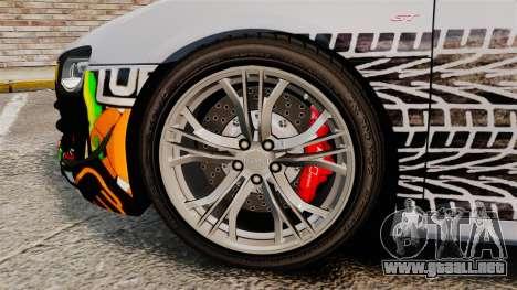 Audi R8 GT Coupe 2011 Drift para GTA 4 vista hacia atrás