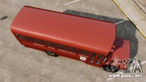 GTA IV TLAD Prison Bus para GTA 4 visión correcta