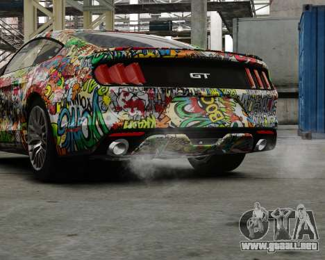 Ford Mustang GT 2015 Sticker Bombed para GTA 4 left
