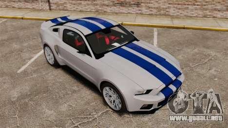 Ford Mustang GT 2013 Widebody NFS Edition para GTA 4 interior