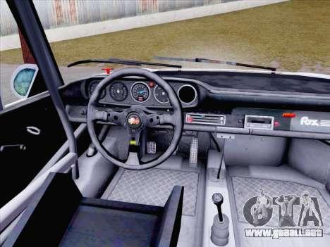 Porsche 911 RSR 3.3 skinpack 1 para GTA San Andreas vista hacia atrás
