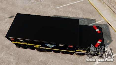 Hazmat Truck NLSP Emergency Operations [ELS] para GTA 4 visión correcta