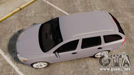 Skoda Octavia RS Unmarked Police [ELS] para GTA 4 visión correcta