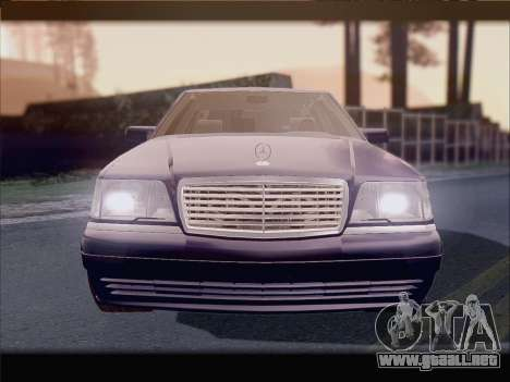 Mercedes-Benz S600 V12 V1.2 para visión interna GTA San Andreas