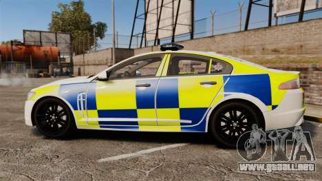 Jaguar XFR 2010 Police Marked [ELS] para GTA 4 left