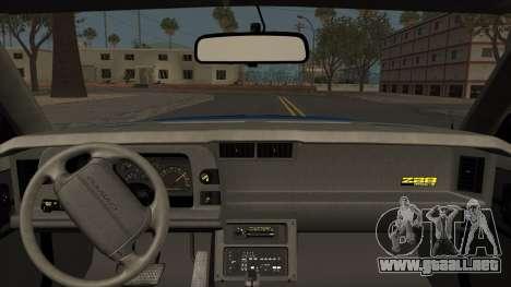 Chevrolet Camaro IROC-Z 1990 para la visión correcta GTA San Andreas