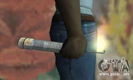 Un cartucho de dinamita desde el Metro 2033 para GTA San Andreas tercera pantalla