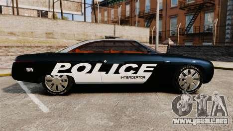Ford Forty Nine Concept 2001 Police [ELS] para GTA 4 left