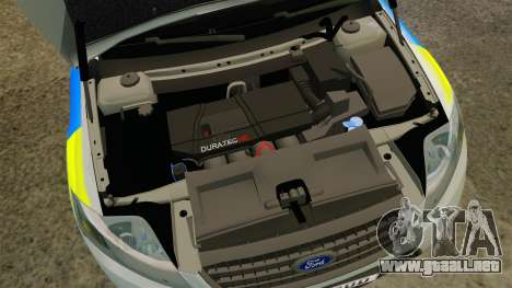 Ford Mondeo Metropolitan Police [ELS] para GTA 4 vista interior