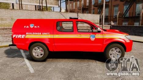 Toyota Hilux FDNY [ELS] para GTA 4 left