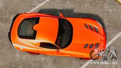 Dodge Viper SRT TA 2014 para GTA 4 visión correcta