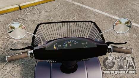 Funny Electro Scooter para GTA 4 vista hacia atrás