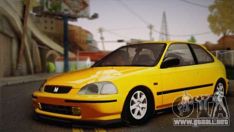 Honda Civic 1.4is TMC para GTA San Andreas left