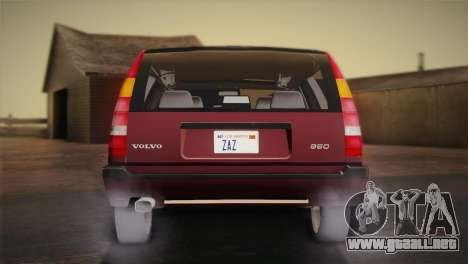 Volvo 850 Estate Turbo 1994 para GTA San Andreas vista posterior izquierda