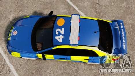 Subaru Impreza WRX STI 2011 Police [ELS] para GTA 4 visión correcta