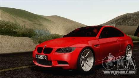 BMW M3 E92 2008 Vossen para GTA San Andreas