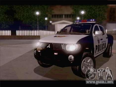 Mitsubishi L200 POLICIA para GTA San Andreas left