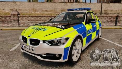 BMW F30 328i Metropolitan Police [ELS] para GTA 4