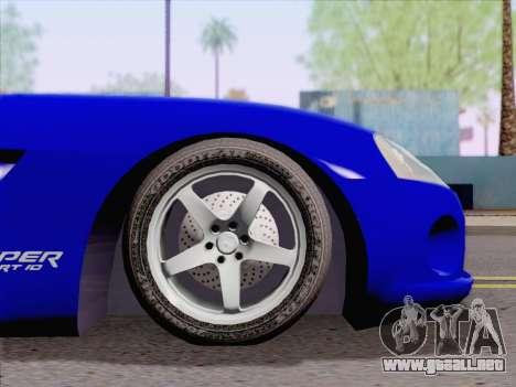 Dodge Viper SRT-10 Coupe para la visión correcta GTA San Andreas