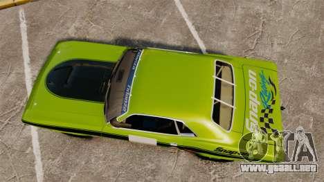Plymouth Cuda AAR 1970 para GTA 4 visión correcta