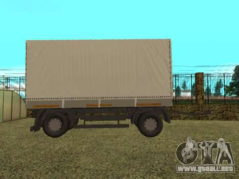 Trailer de Kamaz 5410 para GTA San Andreas left