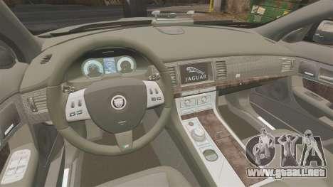 Jaguar XFR 2010 West Midlands Police [ELS] para GTA 4 vista interior