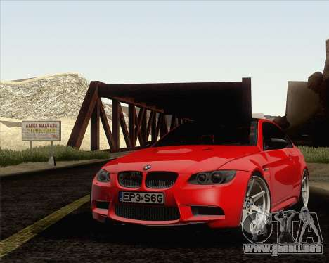 BMW M3 E92 2008 Vossen para GTA San Andreas interior