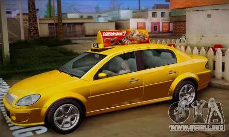 Declasse Premier Taxi para visión interna GTA San Andreas