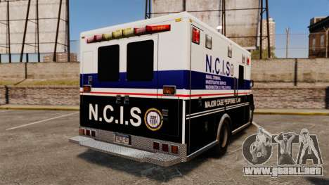 Brute NCIS [ELS] para GTA 4 Vista posterior izquierda