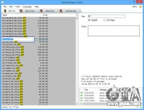 IMG Manager 2.0 para GTA San Andreas tercera pantalla