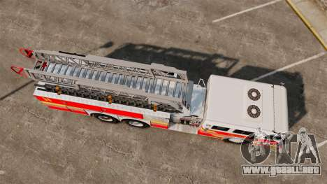 MTL Firetruck MDH1000 LCFR [ELS] para GTA 4 Vista posterior izquierda