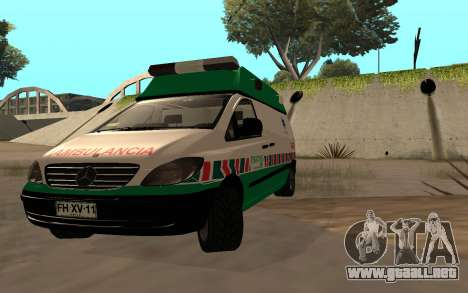 Mercedes-Benz Vito Ambulancia ACHS 2012 para GTA San Andreas